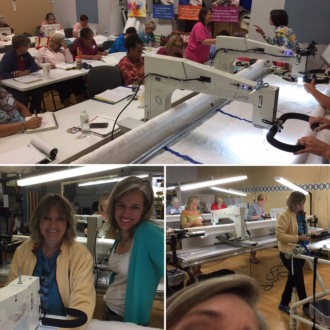 Students learning from Bethanne Nemesh at Quilted Joy