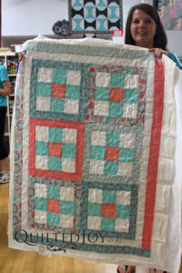 This family of quilters wanted to learn to use longarms together, so they spent a Saturday with us. What a fun family occasion!