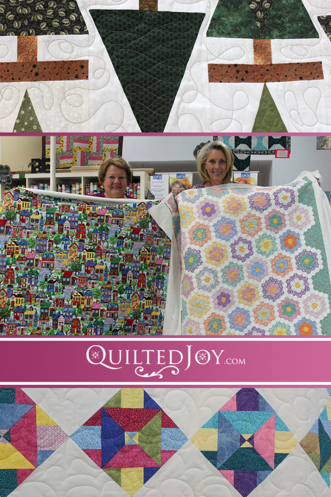 Quilters are finishing up their UFOs (UnFinished Objects) at Quilted Joy