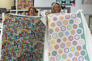 Lisa and Lynn took their longarm rental certification class together at Quilted Joy