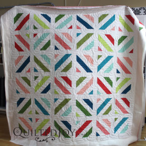 Emily's contemporary quilt really shows off the airborne pantograph!