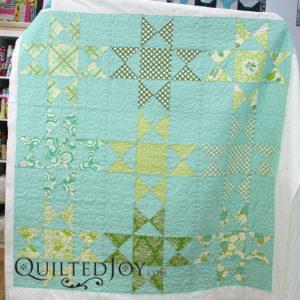 Erin's Ohio Star block quilt