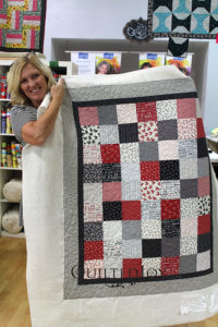 Gloria's Valentine's Day Quilt! Quilted at Quilted Joy in Louisville, KY