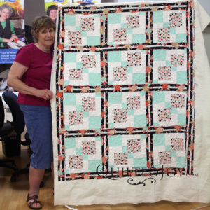 Jean's super cute quilt, quilted at Quilted Joy in Louisville, KY