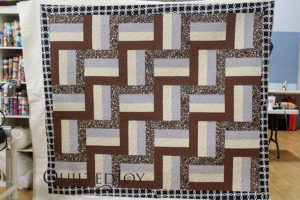Tammie's Rail Fence Quilt. Quilted at Quilted Joy in Louisville, KY