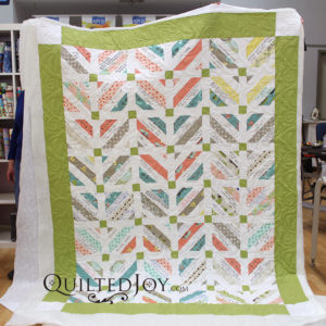 Alice's made a signature quilt as a wedding gift