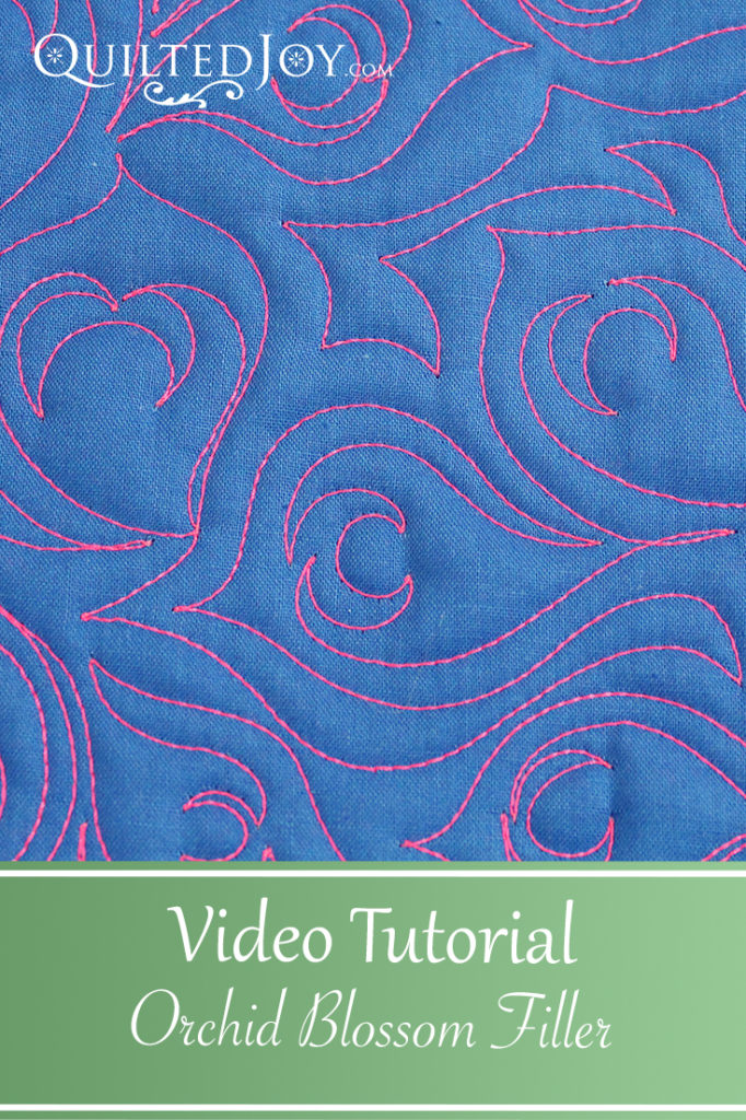 Video Tutorial for the Orchid Blossom Filler free motion quilting design
