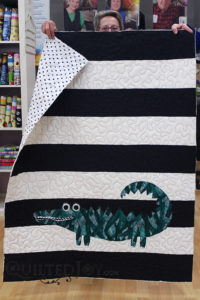 Vivian's Alligator quilt for a little boy
