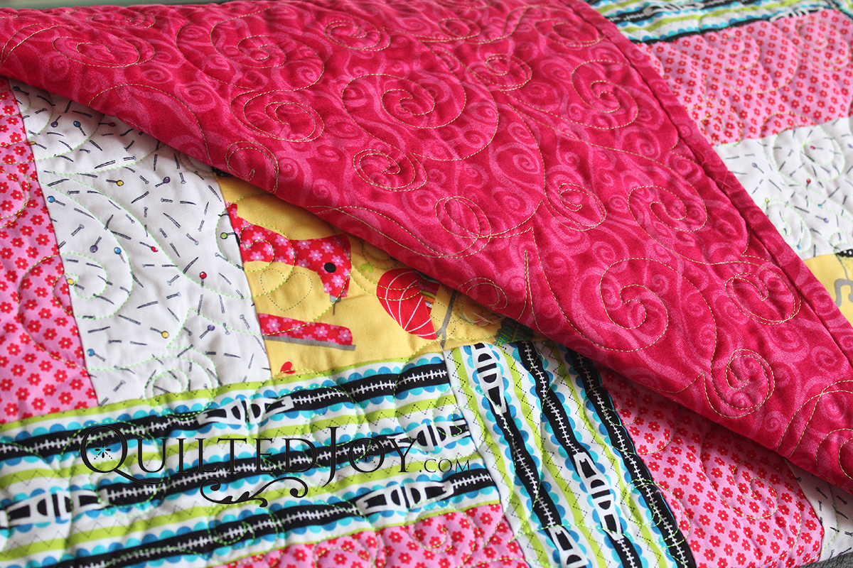 If you feel confident with your quilting, try a thread with a color that contrasts with your backing fabric