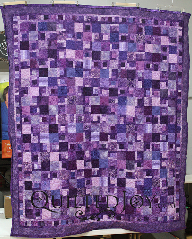 Gorgeous Purple batiks quilt