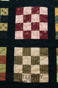 Civil War Reproduction 16 Patch Quilt