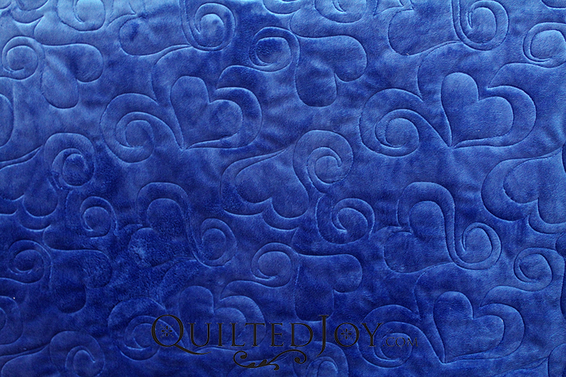 Cuddle Solid Midnight Blue Fabric Quilted
