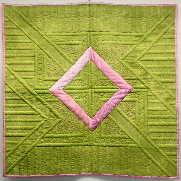 Quilt sample pieced and quilted by Elizabeth Kodner from Judi Madsen's Quilting Makes a Difference class