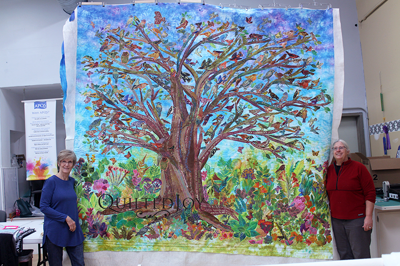 Together We Grow - A stunning Wall Hanging for a local church depicting a tree featuring hand dyed fabrics and hand embroidery
