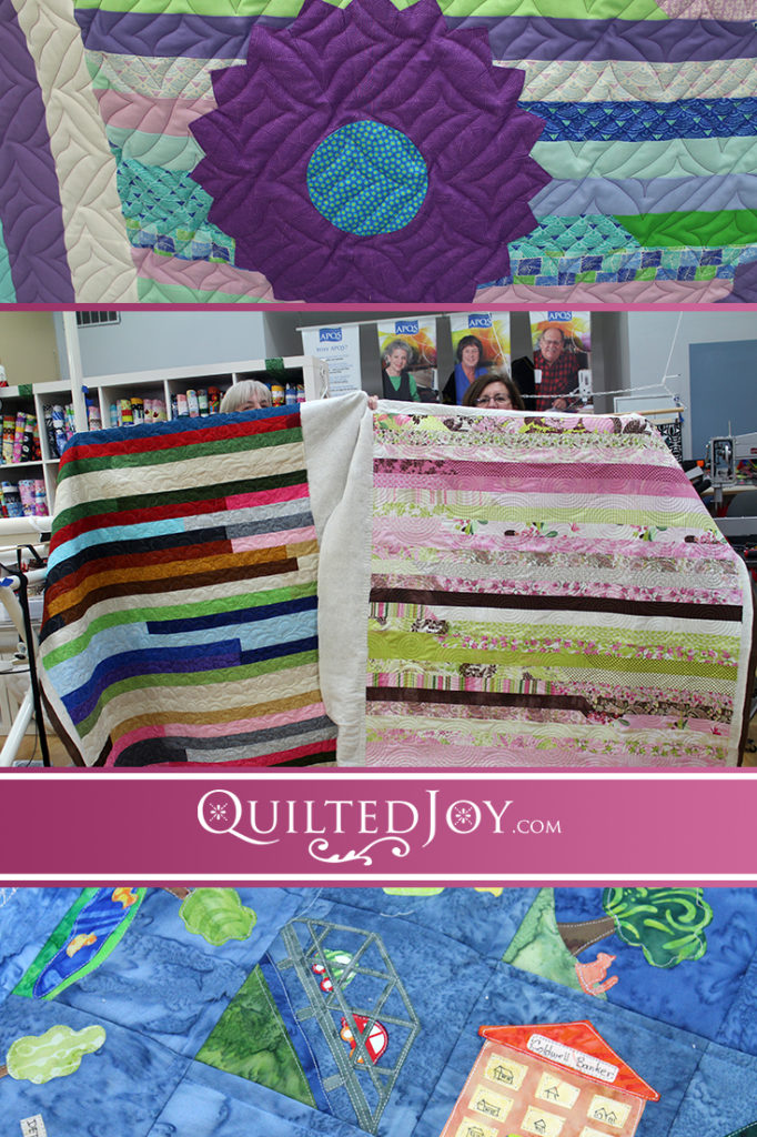 Our renters bring in such interesting projects! In this post, we see tops ranging from jelly roll quilts to block-a-day quilts. Enjoy!