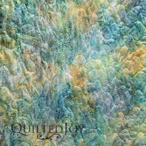 "Rippled Reflections Tropical Blue 108"" wide batik fabric"