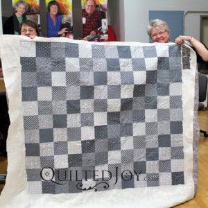 Monochrome Grey Quilt