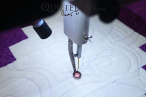 Spot On Laser Bracket for APQS computerized quilters