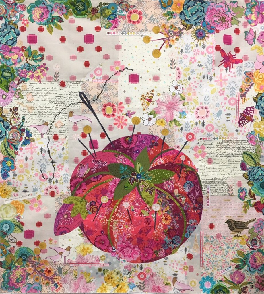 Pincusion Collage by Laura Heine