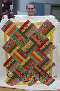 Contemporary Rail Fence Variation Quilt