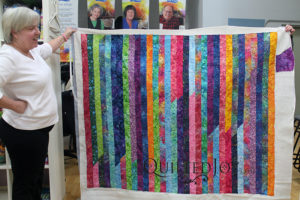Bright and Colorful Jelly Roll Race Quilt
