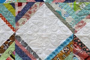 String Pieced Quilt Scrappy Quilt Custom Quilting