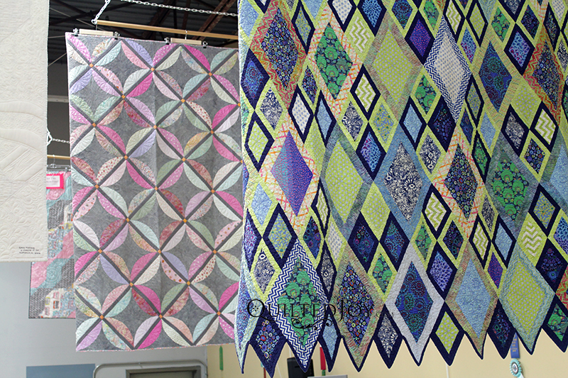 Collaborations pieced by Mary Bauer and her granddaughters, quilted by Mary Bauer