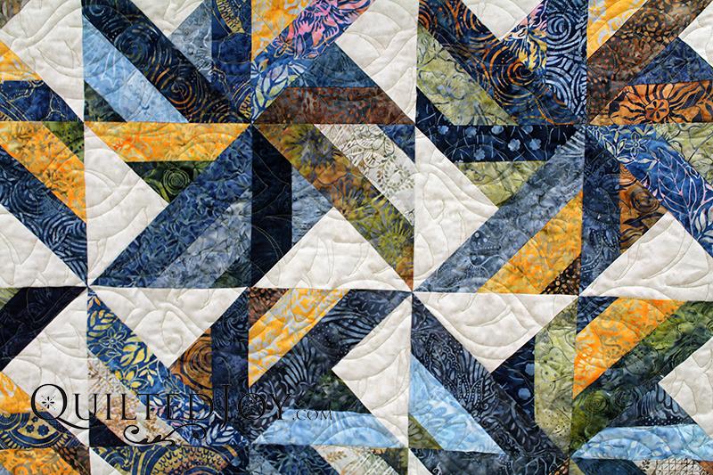 Batik Quilt Strip Set Quilt