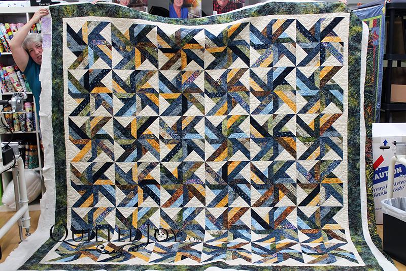 Batik Quilt Strip Sets Quilt