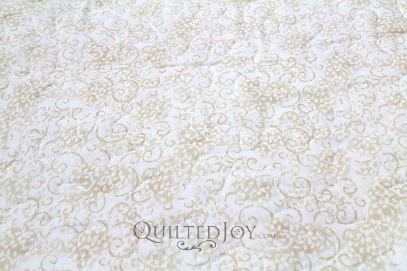 """Essentials Leafy Scroll 108"""" Ivory fabric"""