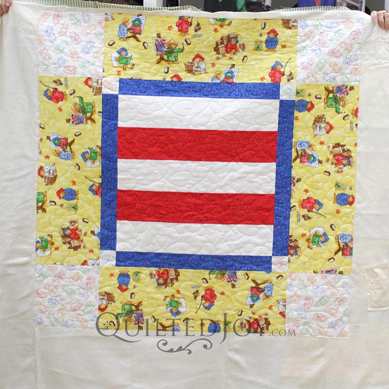 Lynn's Paddington Bear baby quilt is so sweet!