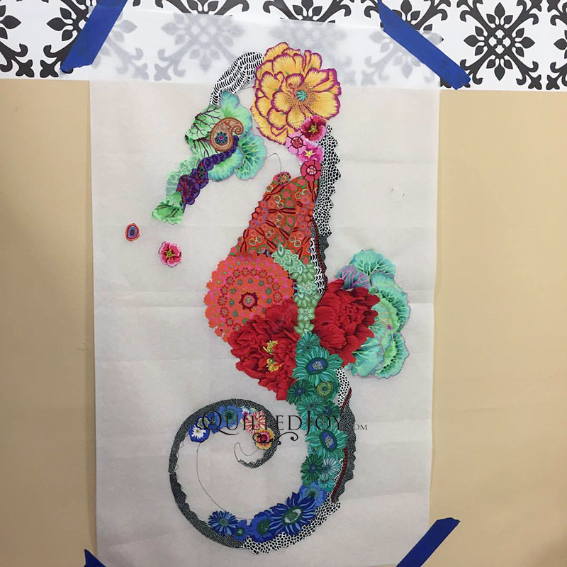 Laura Heine Ebba Seahorse Fabric Collage