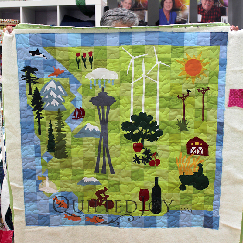 Colleen's Washington state Row by Row quilt is amazing!