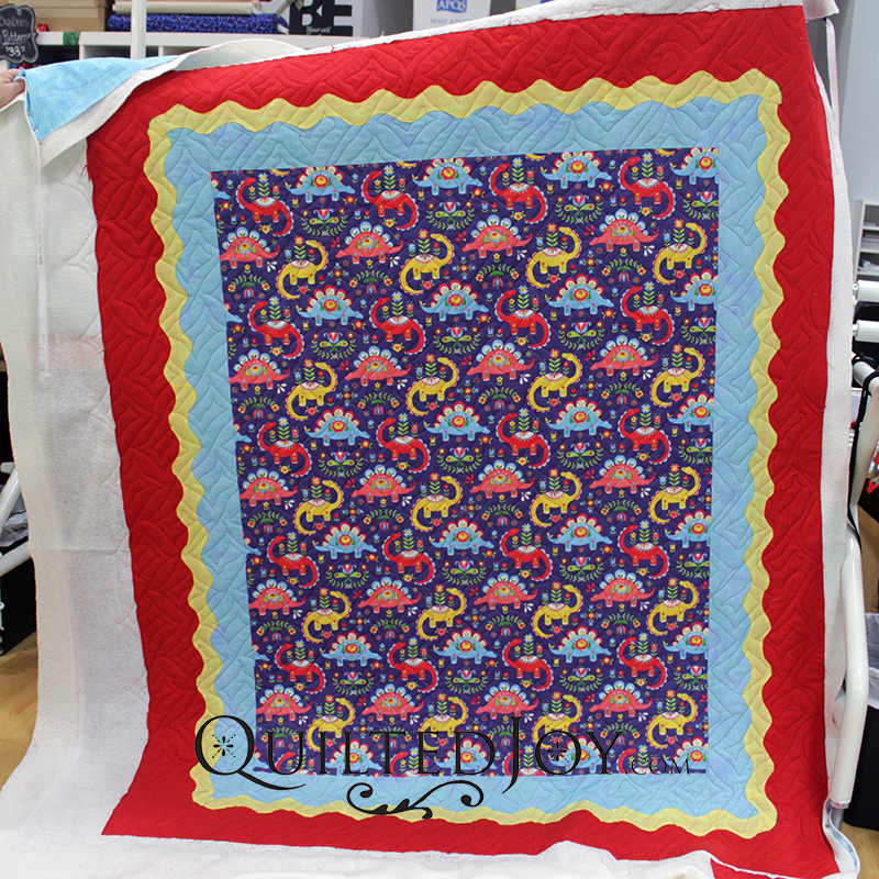Karen made this fun dinosaur quilt for her grandson. It's a perfect boy quilt