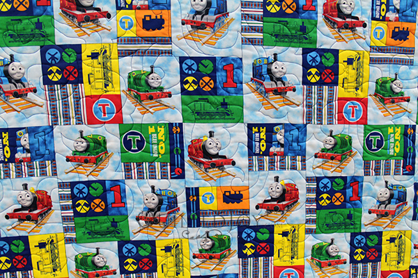 Patricia's Thomas the Train Engine quilt is the perfect quilt for a little boy or girl!