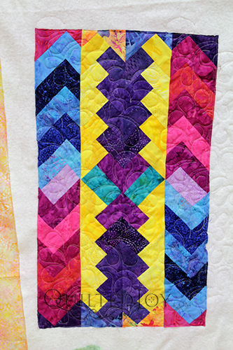 French Braid quilt inspired table topper