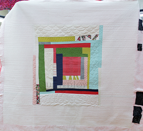 Erin's wonky log cabin quilt