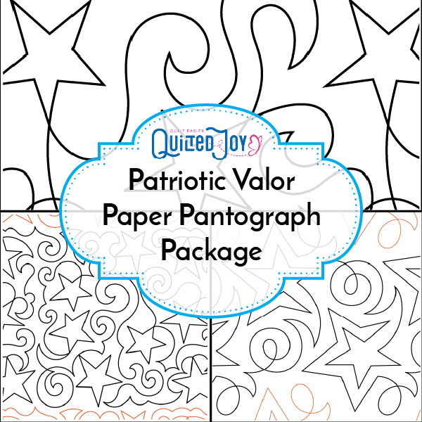 Quilted Joy's Patriotic Valor Paper Pantograph Package