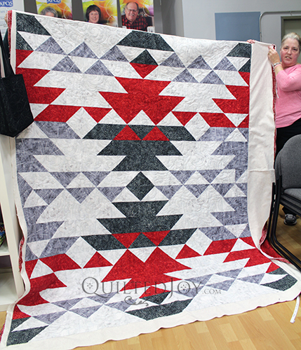 Valerie's Sequoia Quilt. She quilted this at Quilted Joy!