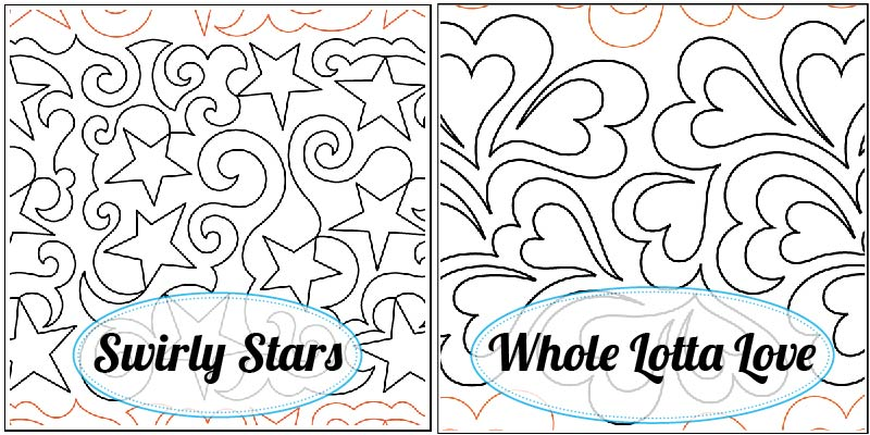 Swirly Stars Paper Pantograph, Whole Lotta Love Paper Pantograph