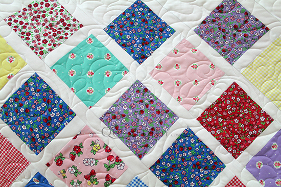 Pat's Lattice Baby Quilt, quilted at Quilted Joy