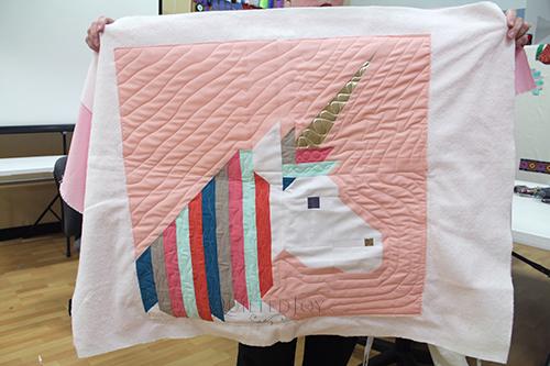 Valerie's Lisa the Unicorn quilt