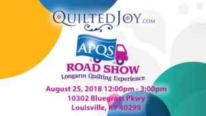 Test Drive Longarm Machines during the APQS Road Show at Quilted Joy in Louisville KY