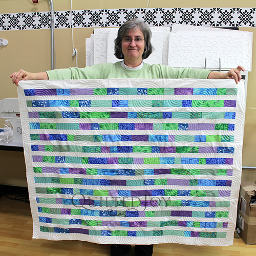 Kathleen's baby quilt, quilted at Quilted Joy