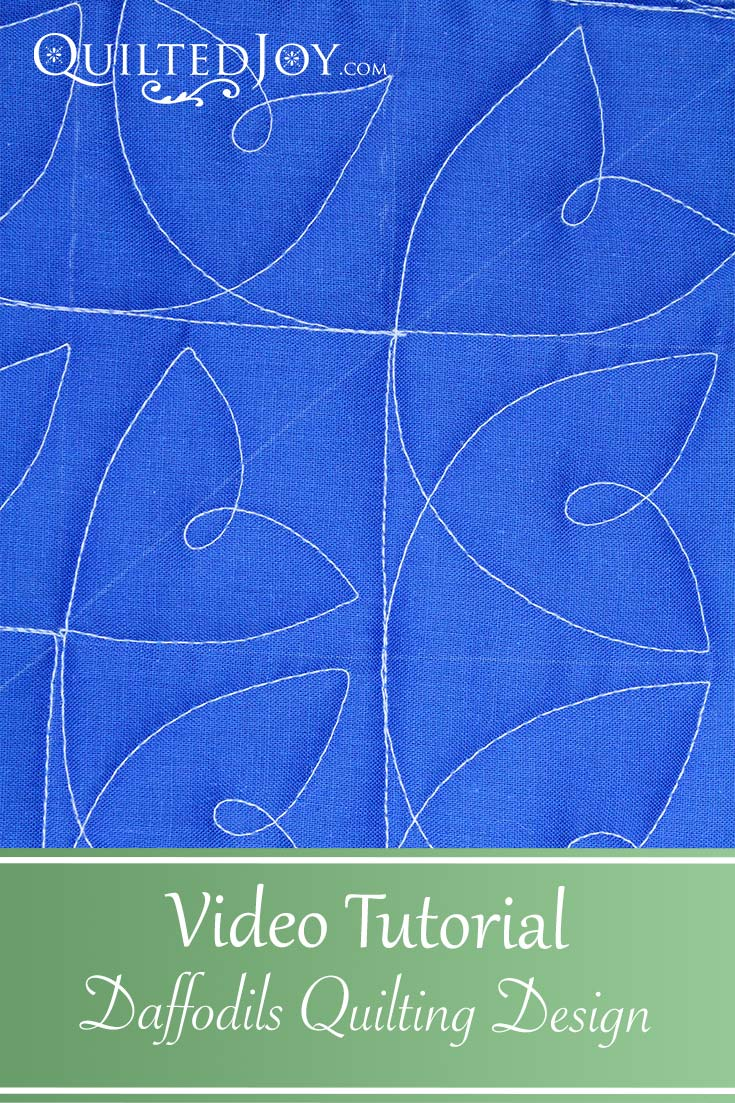Video Tutorial: Daffodils Quilting Design