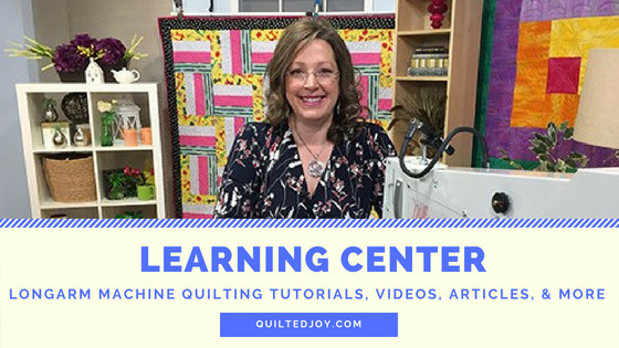 Learning Center - Longarm Machine Quilting Tutorials, Videos, Articles, & More - QuiltedJoy.com - Angela Huffman with a APQS Millie Longarm Machine