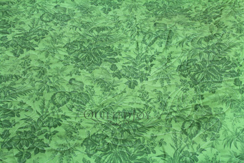 "35482-3 Bouquet Floral 108"" Green Quilt Backing Fabric"