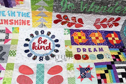 Debra's Dear Daughter Quilt - Be Kind & Dream Blocks