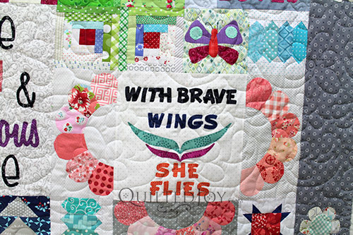 Debra's Dear Daughter Quilt - With Brave Wings She Flies Block