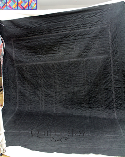 Judy's Thin Blue Line Quilt Back